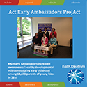 #ActEarly Ambassadors increased awareness on healthy developmental milestones