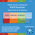 Thank You for Joining Us! #AUCDautism: Awareness & Acceptance