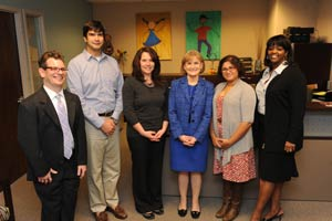Mary Wakefield with GA LEND trainees
