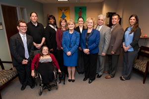 Dr. Wakefield with faculty and staff of the GA LEND