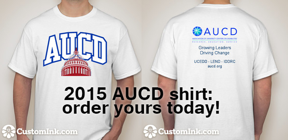 The 2015 AUCD t-shirt will be available to order from Custom Ink beginning March 4th
