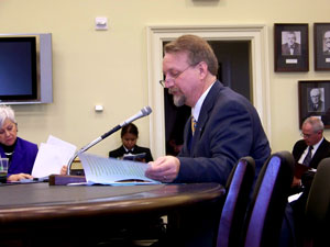 Michael Gamel-McCormick testifies on appropriations recommendations for UCEDDs and LENDs