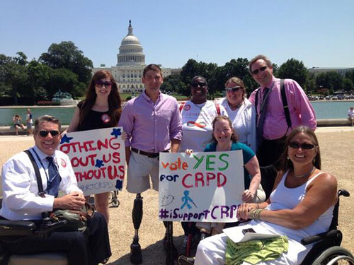 CRPD support rally