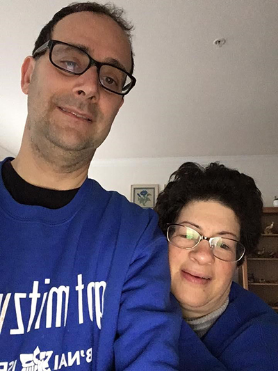 Image of Phil and Liz Weintraub at home.