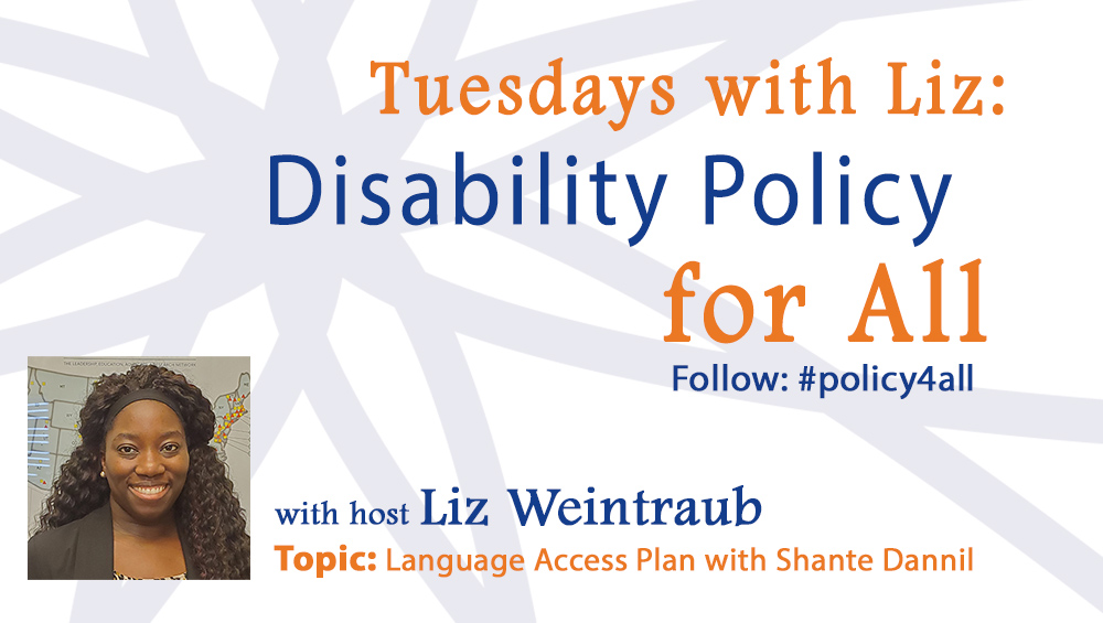 Tuesdays with Liz: Language Access Plan with Shante Dannil