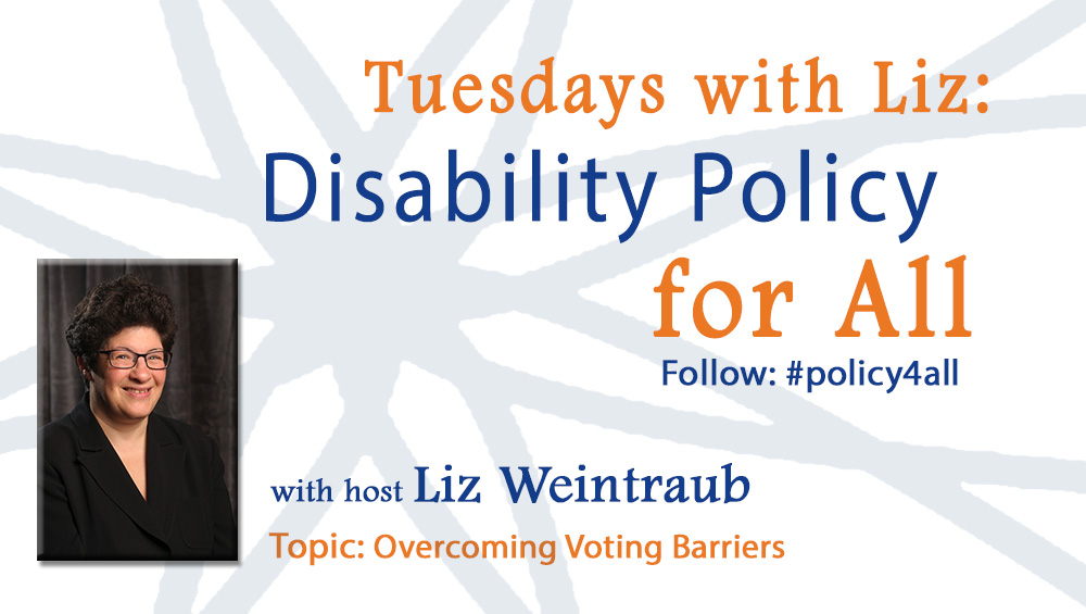 AUCD, Tuesday with Liz: Disability Policy for All