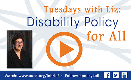 AUCD, Tuesday with Liz: Disability Policy for All, Guest Profile