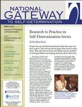 New in NGSD's 'Research to Practice in Self-Determination' Series: Self-Determination and Aging