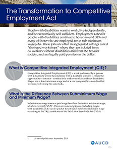 The Transformation to Competitive Employment Act