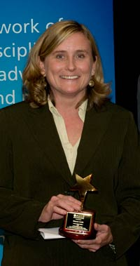 Sharon Lewis, ADD Commissioner, received the 2008 AUCD Gold Star Award for her work in crafting strong public policy.