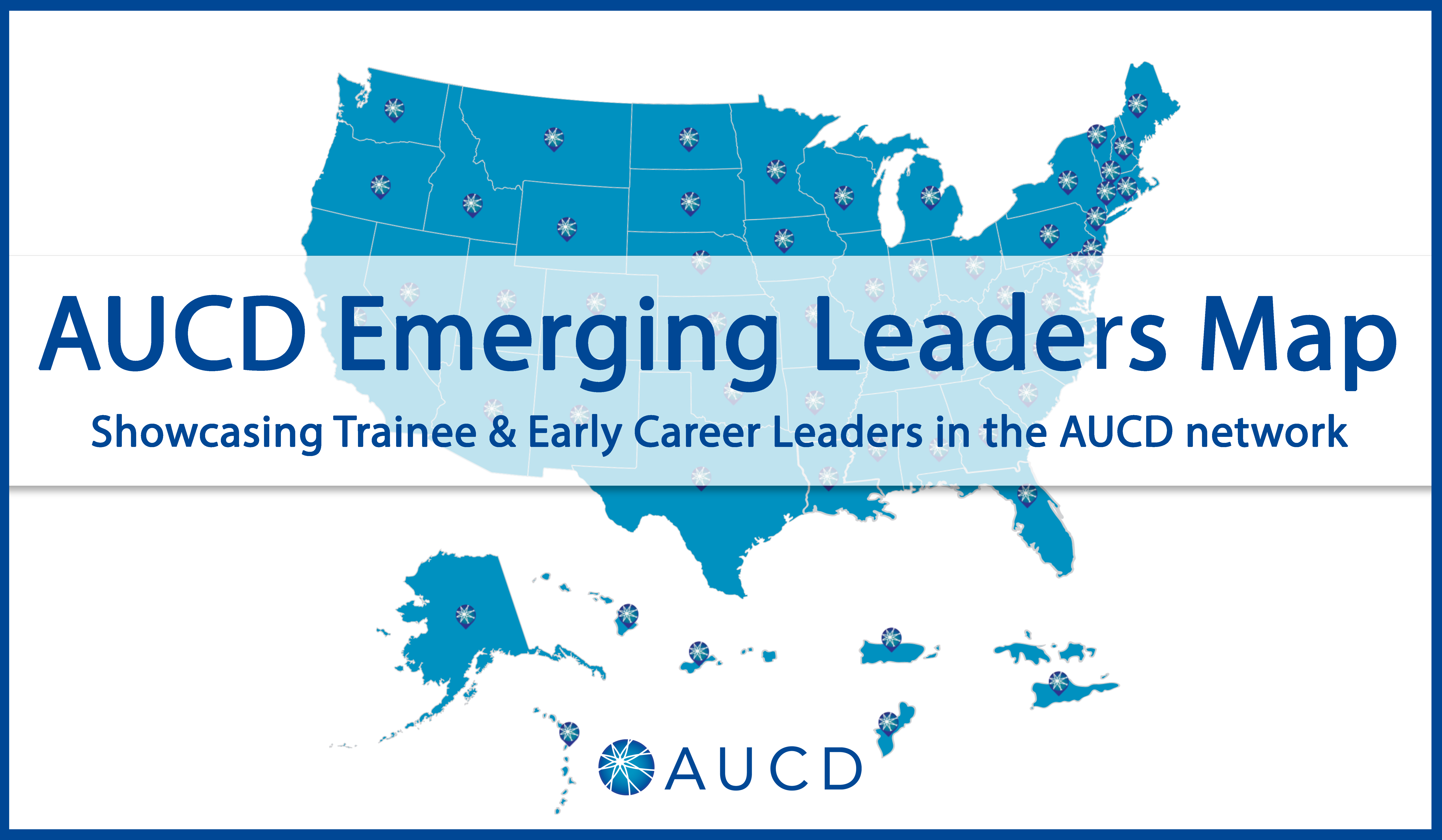The AUCD Emgerging Leaders Map