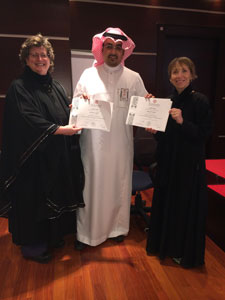 ICI's Shelia Fesko and Karen Flippo with a Saudia Arabian Ministry Representative