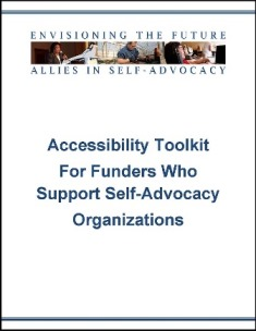 Accessibility Toolkit for Funders Cover