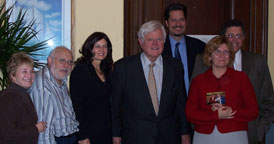 SLN attendees with Senator Kennedy photo