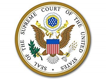 Seal of Supreame Court  a traditional seal, which is similar to the Great Seal of the United States, but which has a single star beneath the eagle's claws— symbolizing the Constitution's creation of