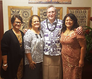 Andy met with President Rosevonne Pato and Vice President Lina Scanlan and Tafaimamao Lefu Tua Tupuola, UCEDD Director at American Samoa Community College.