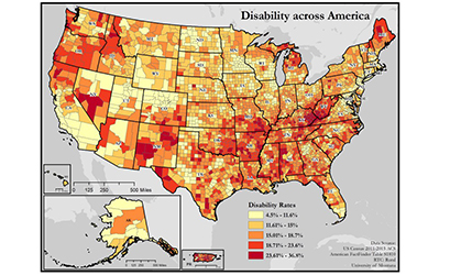 Explore geography and rural disability research maps.