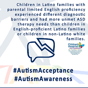 Language Barriers Impact Access to Services for Children with Autism Spectrum Disorders