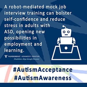 Android Robot-Mediated Mock Job Interview Sessions for Young Adults with Autism Spectrum Disorder: A Pilot Study