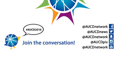 Join the conversation at #AUCD2016