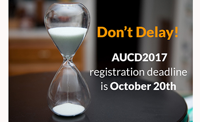 Don't delay! The #AUCD2017 registration deadline is in just TWO DAYS! Register now