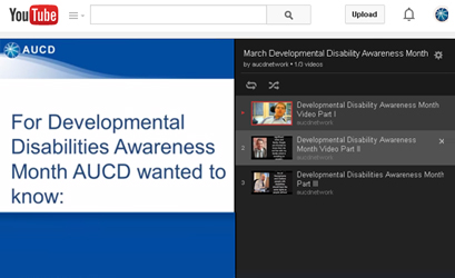 AUCD videos: What people with disabilities want you to know