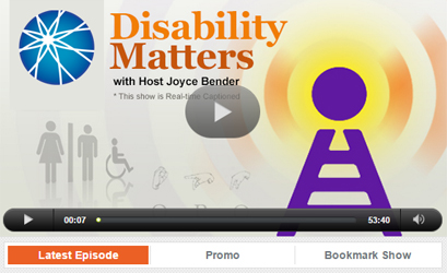 AUCD on 'Disability Matters' Radio