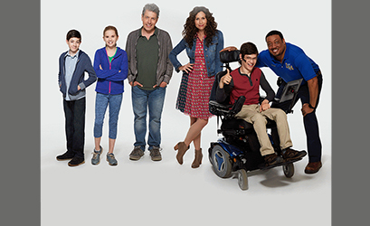 A comedic but not mocking take on a non-speaking disabled teen and his family.