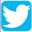 Twitter logo, white bird on blue background